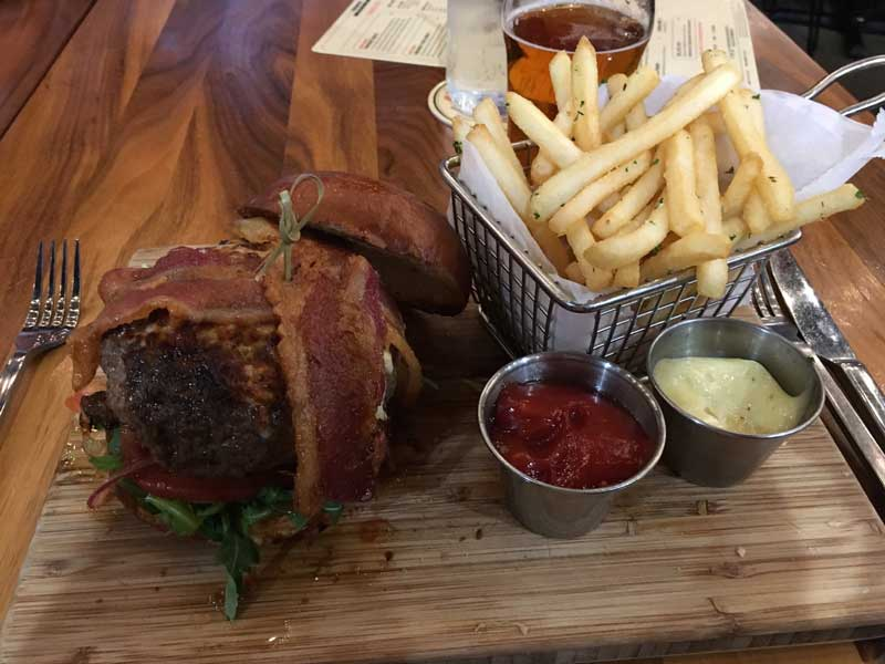 The 'blow your mind' burger at the Detroit Townhouse restaurant