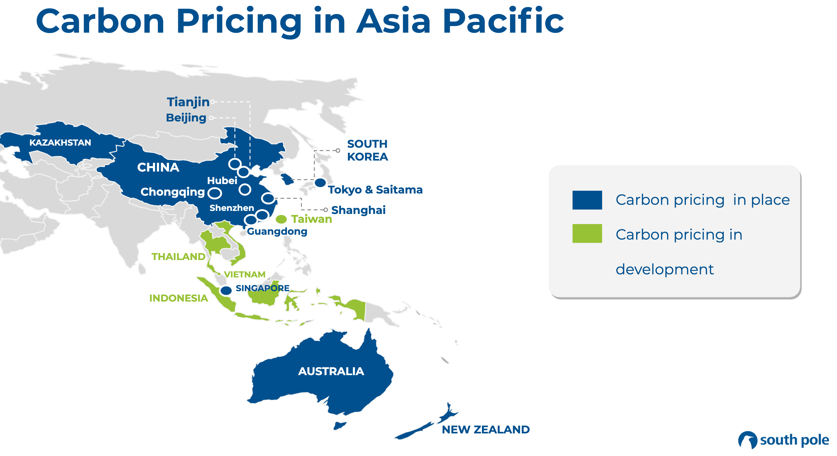 Carbon Pricing Asia pacific Diagram
