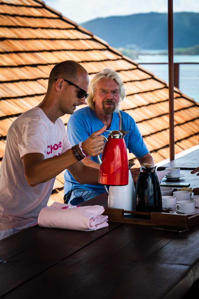 Andreas Slettvoll and Richard Branson