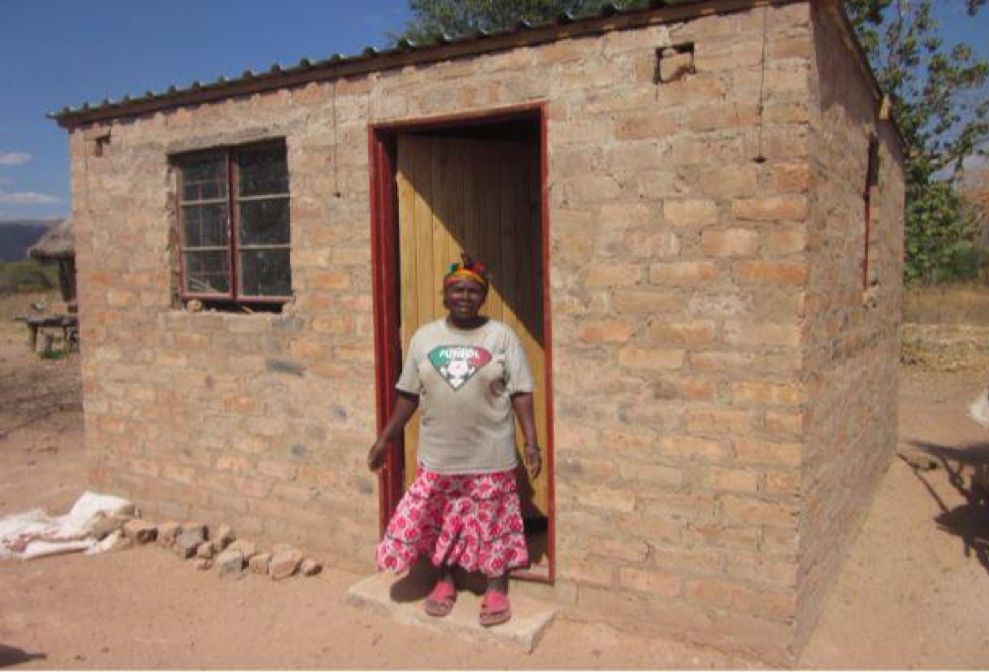 Elinah Muley with her new house!