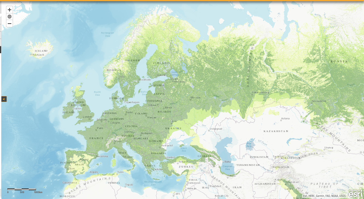 Image: Peter Potapov, Lars Laestadius, and Susan Minnemeyer. 2011. Global map of potential forest cover. World Resources Institute: Washington, DC. Online at www.wri.org/forest-restoration-atlas