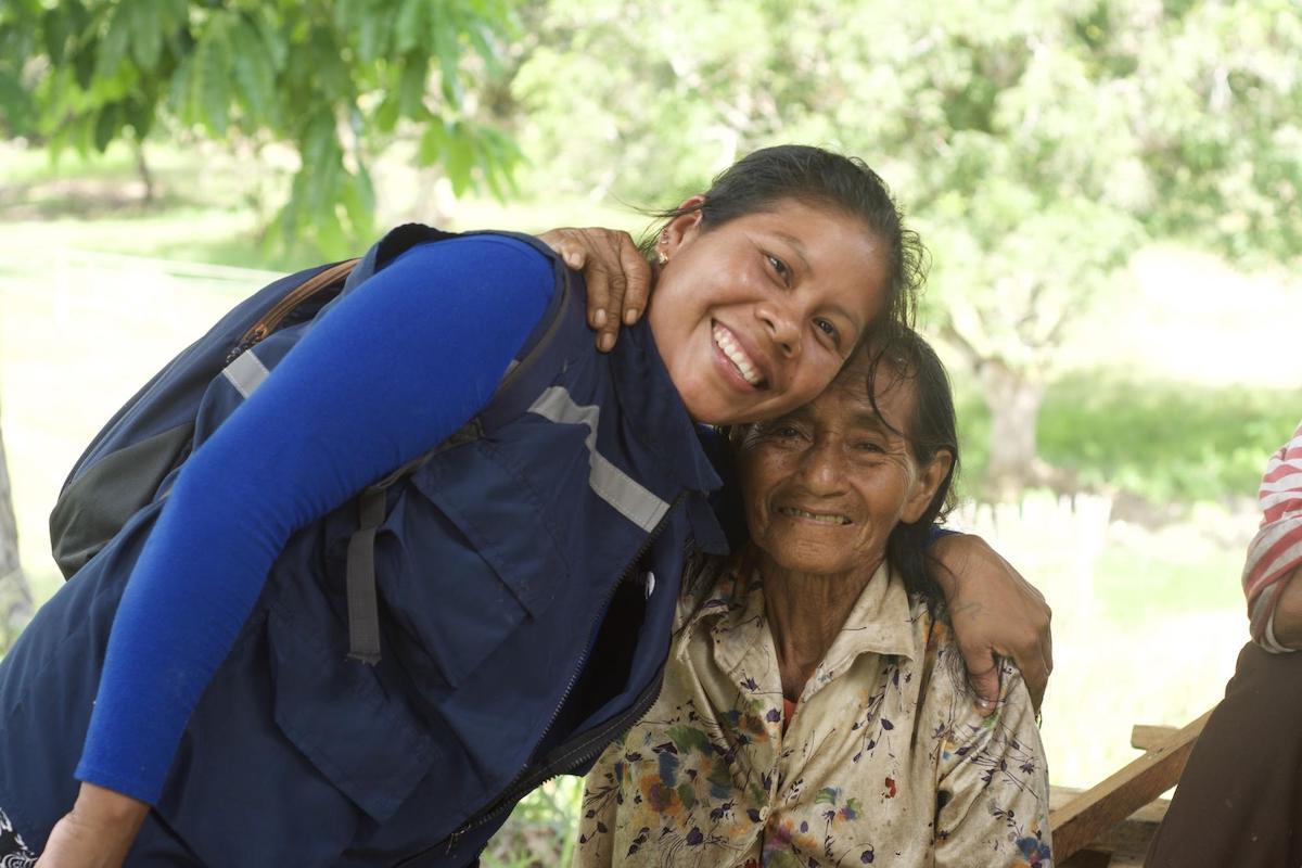 Image: Adelita Rimabake with a community elder