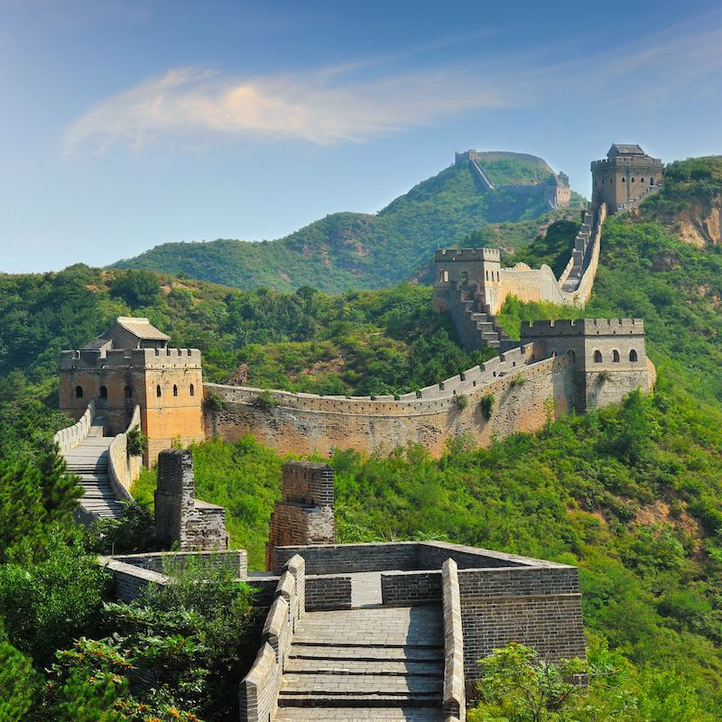 Great wall of China. Image via National Geographic