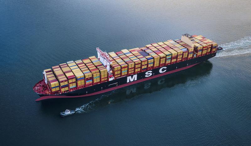 MSC Nela at port of Long Beach CA
