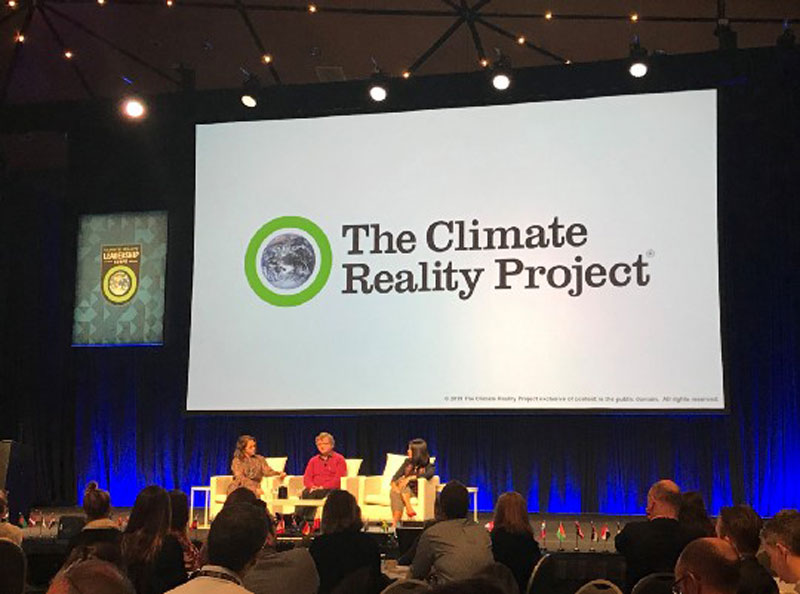 L-R: Sheree Marris, Terry Hughes, Anna Oposa at The Climate Reality Project