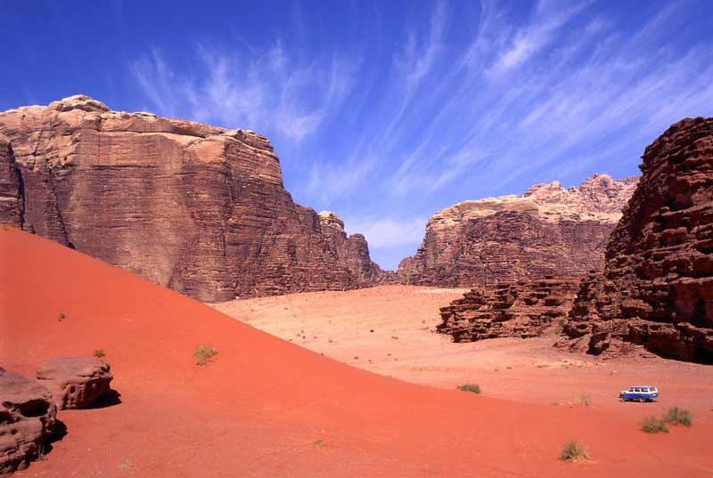 Wadi Rum, Jordan is another UN World Heritage site at risk from climate change and overtourism