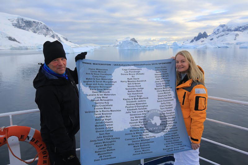 Annie Waterston visit Antarctica