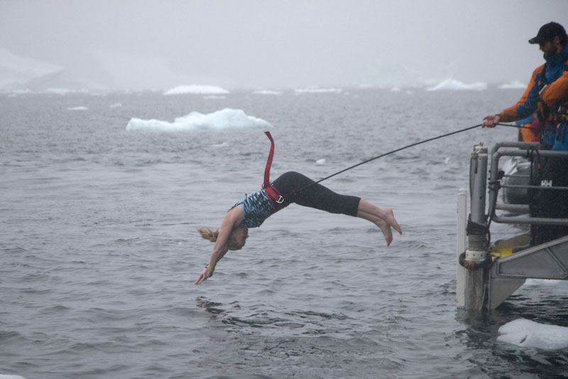Me, truly connecting with the ocean by taking a polar plunge!