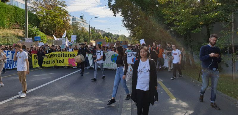 Alexa Portier of itmustbeNOW at the September Climate Strike
