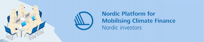 Webinar Series - Nordic Platform for Mobilising Climate Finance: Nordic Investors