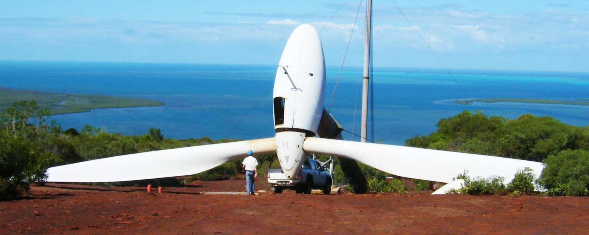 Generating sustainable energy from wind for the island nation